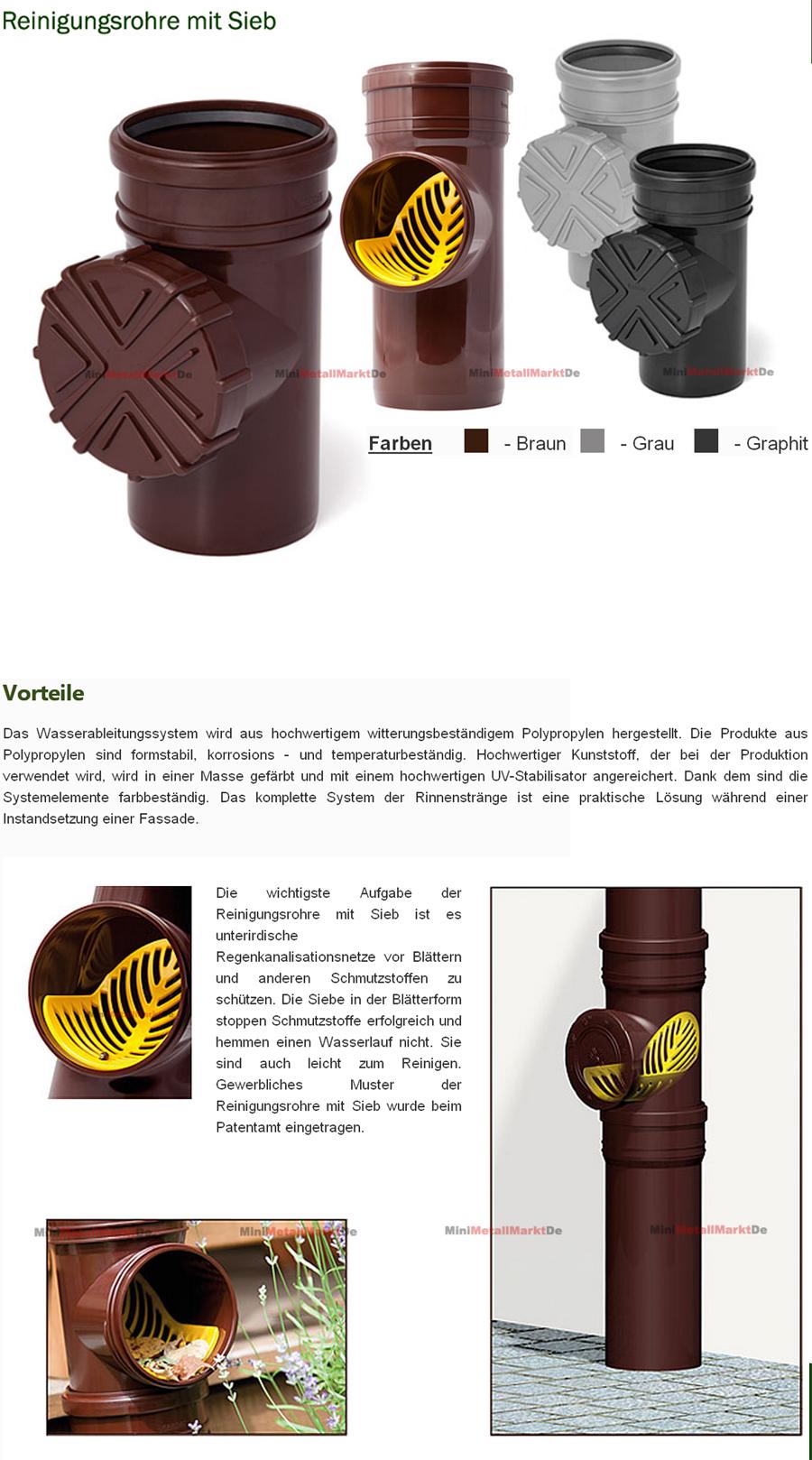 fallrohrfilter regenrohrfilter dachrinne laubschutz laubfang 110 ht kg rohr ebay. Black Bedroom Furniture Sets. Home Design Ideas