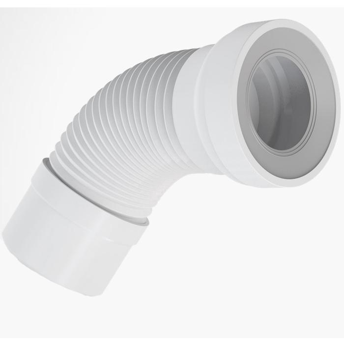 wc anschluss flexibel 250 530mm universal abfluss weiss wc abfluss rohr ebay. Black Bedroom Furniture Sets. Home Design Ideas